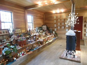 Nativities on display in the schoolhouse, Historic Kirtland