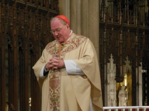 Cardinal Timothy Dolan giving his homily on the Feast of the Immaculate Conception, St. Patrick's Cathedral
