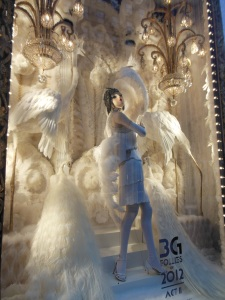 """Naughty and Nice"" window at Bergdorf Goodman"