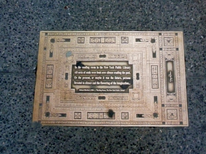 BBrass plaque on Library Way