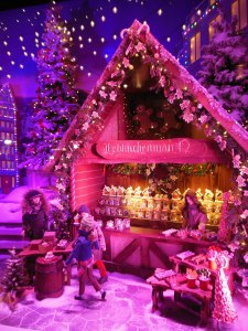 German Christmas market window at Lord & Taylor
