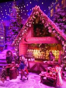 German Christmas market window at Lord & Taylor