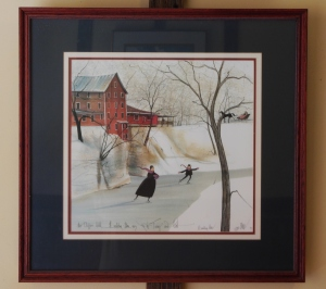 P. Buckley Moss print of Clifton Mill