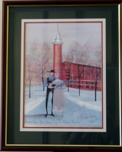 P. Buckley Moss print of Weaver Memorial Chapel, Wittenberg University