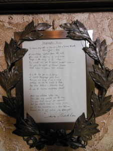 "Edwin Markham's ""Impromptu Verses To Mabel Wagnalls on Presenting Her a Laurel Wreath, Christmas, 1923"""