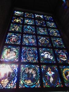 Windows portraying Wittenberg University's history