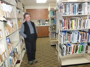 Sheila Campbell in the Columbus Zoo's library