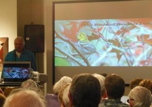 Bernard Master speaking on the Birds of Boulder Lodge
