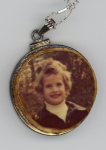 Necklace and photo of me taken at Blacklick Woods, 1974