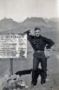 James Heinmiller on the Tonto Trail, Winter 1927-1928