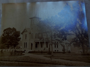 Mounted photographic print of the William Starling Sullivant House, Ohio Historical Society Archives/Library, OVS 3650