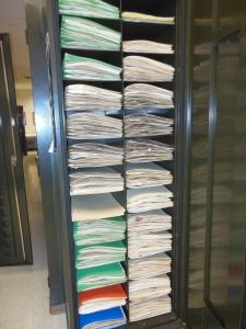 Cabinet for storing specimens at Ohio State University's Herbarium