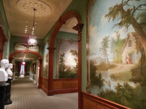 Robert Duncanson's landscape murals and Hiram Powers' busts of David and Anna Sinton at the Taft Museum