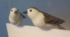 "Two of Mark Petrovic's ""Avians"" birds"