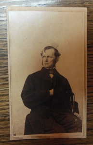 Carte de visite of William Starling Sullivant taken at the M. Wilt Studio, located at 81 South High Street in Columbus. Joseph Sullivant Papers (MSS 220), Box 1, Folder 34,  Ohio Historical Society Archives/Library