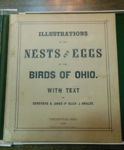 Front cover of Illustrations of the Nests and Eggs of Birds of Ohio, 1879, Ohio Historical Society Archives/Library