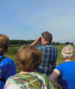 "Jim McCormac leading a walk during ""Bobolinks at Byers Woods"""