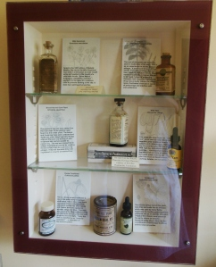 Lloyd Library's display, Carriage House Restroom, Ohio Governor's Residence and Heritage Garden