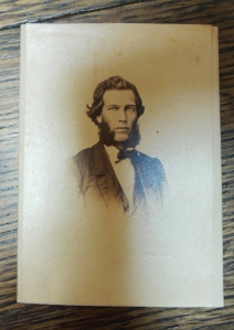 Carte de visite of John Maynard Wheaton, taken by Reeve & Watts, Photographers, located at 57 High Street in Columbus, ca. 1864-1867 (SC 4217, Ohio Historical Society Archives/Library)
