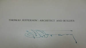 Inscribed copy of Ihna Frary's Thomas Jefferson, Architect and Builder, Ohio Historical Society Archives/Library
