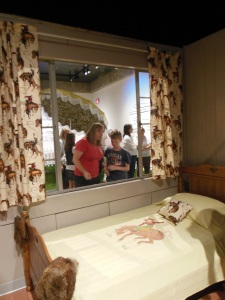 Looking inside the Lustron Home at the Ohio History Center