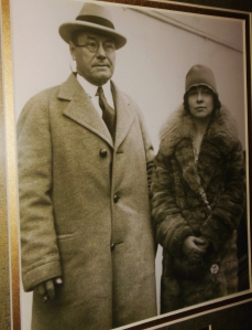 Photo of John and Marie Aull, on display at Aullwood