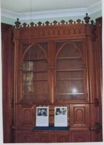 Gothic bookcases, Cooke Castle, Gibraltar Island