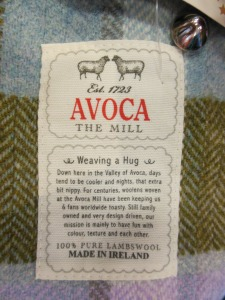 Avoca label, Powerscourt, Ireland