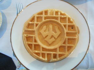 Waffle with Washington and Lee University's trident