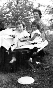 My mother, Aunt Sally and Grandma on a picnic, circa 1941