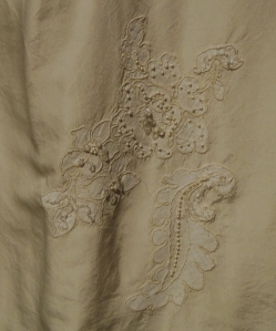 Detail of the gown Jacquelyn Mayer was wearing when she was crowned Miss America 1963, Ohio Historical Society