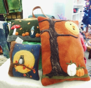Needle-felted creations by Suzy Johnson of Sheared Bliss, A Wool Gathering