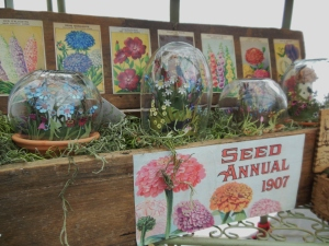 Jeri Landers' paper gardens under glass, Country Living Fair
