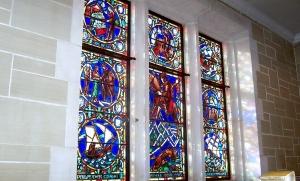 Philander Chase windows, Peirce Hall, Kenyon College
