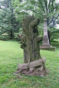 Tree stone, Spring Grove Cemetery