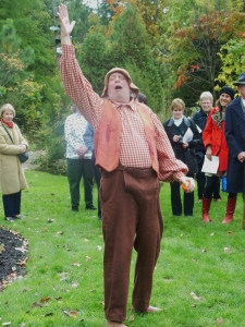 Johnny Appleseed, portrayed by Hank Fincken, at the Ohio Governor's Residence