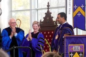 Kenyon Presidents Philip Jordan, Georgia Nugent and Sean Decatur
