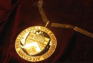 Detail of Kenyon College's Presidential Medallion