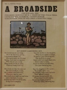 Cuala Press broadside, The Ohio State University Libraries
