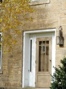 Detail of doorway, Hermon Bronson home, Peninsula