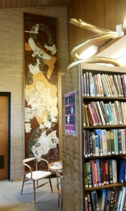 Peninsula Python mural by Honore Guilbeau Cooke, Peninsula Library & Historical Society