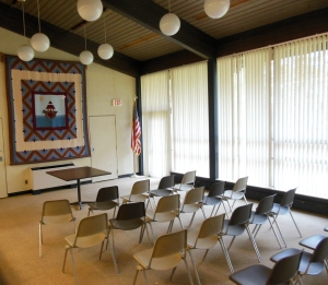Meeting room, Peninsula Library & Historical Society