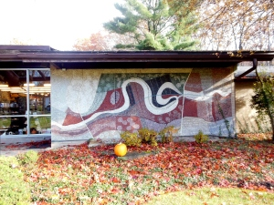 Mural of Transportation in the Valley, by Honore Guilbeau Cooke, Peninsula Library & Historical Society