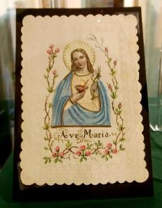 Holy card, Marian Library, University of Dayton