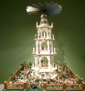 Circa-1890 German pyramid, Antique Christmas, Taft Museum