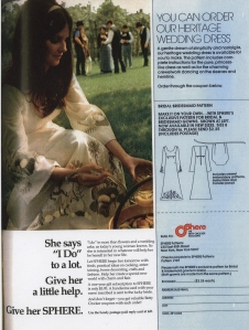Sphere's Heritage Wedding Dress ad