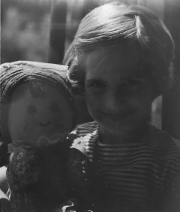 With my doll from The Whole Kit and Kaboodle Co., Inc.,  1977