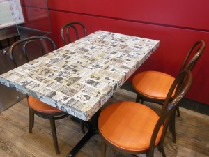 Wendy's original table and chairs
