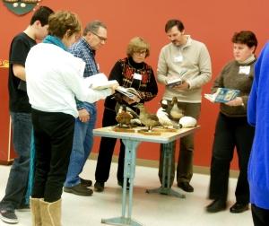 Students in Columbus Audubon's ornithology class