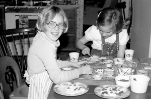 "Making a Sphere ""Kids Cook"" project, 1977"